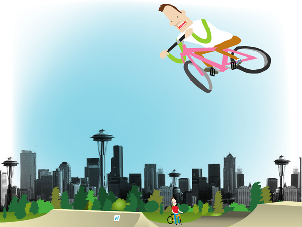 BMX park illustration by David Rhoden