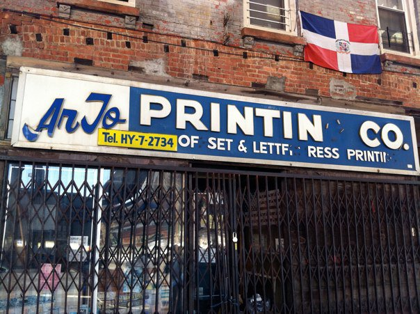a letterpress printing shop in new York City.