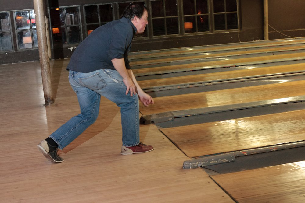 I went bowling at The Gutter.