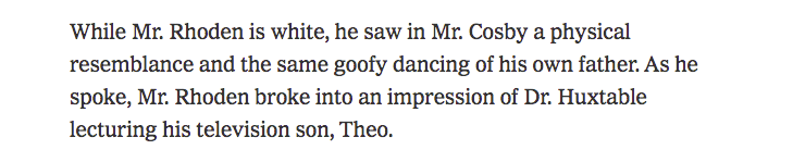 I did a man on the street interview for The New York Times about Bill Cosby