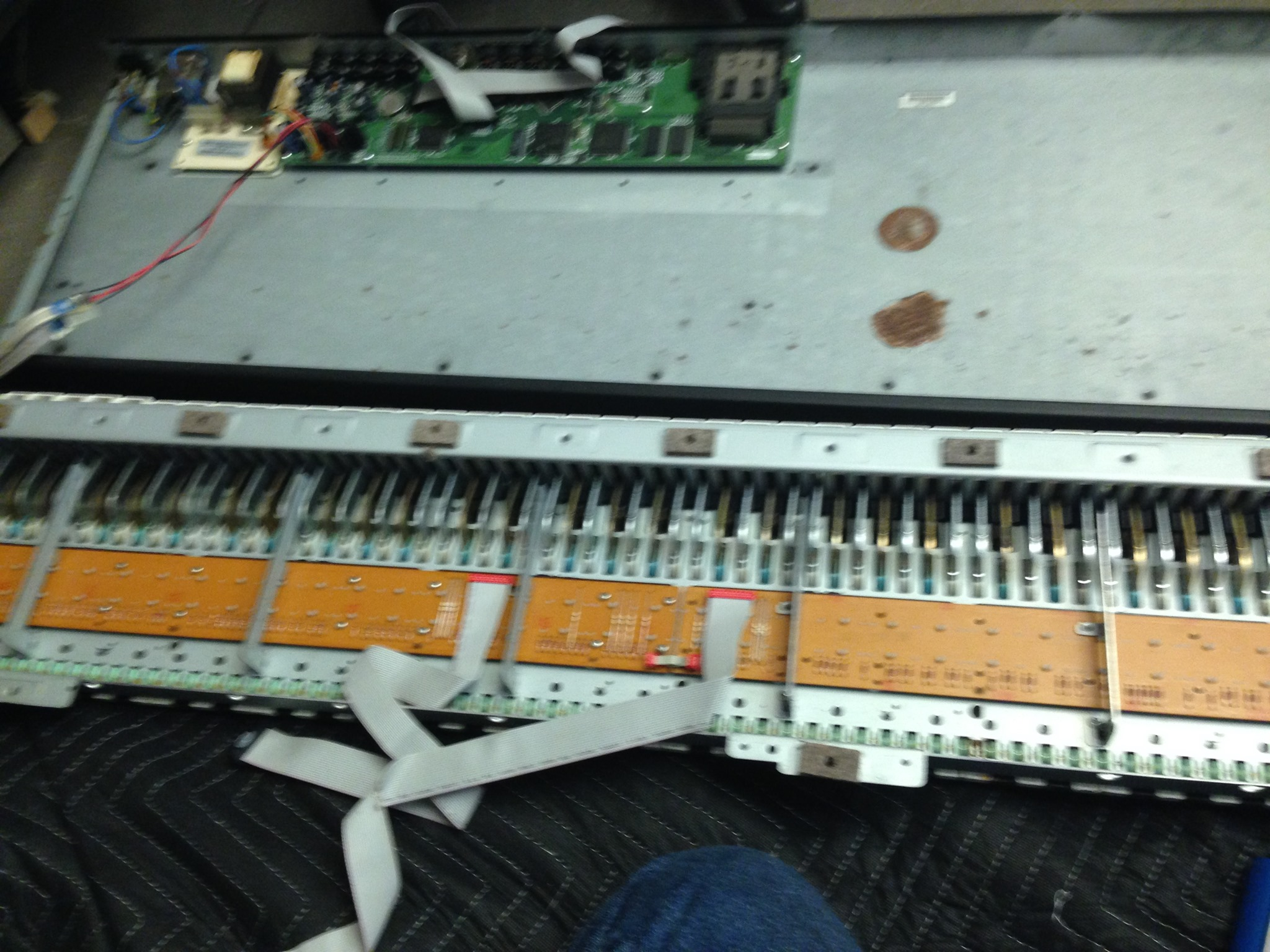 keyboard opened up