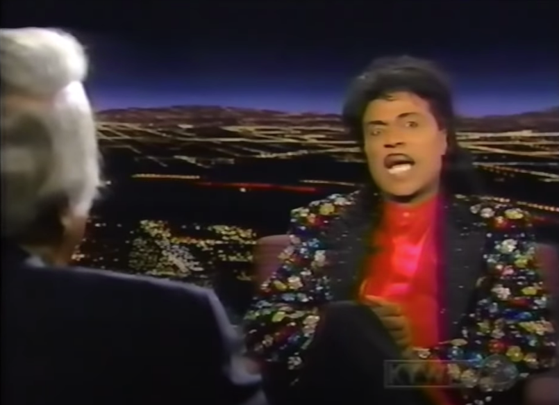 I saw Little Richard on Tom Snyder's show