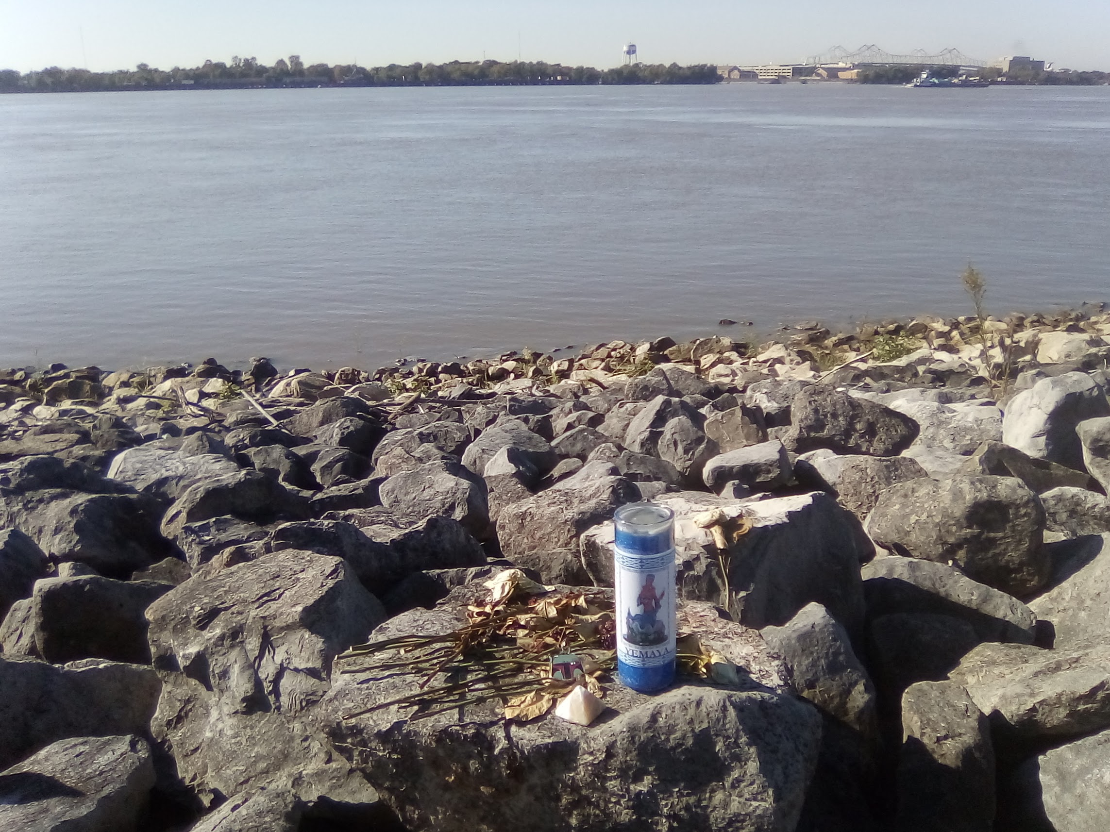 offering on the levee