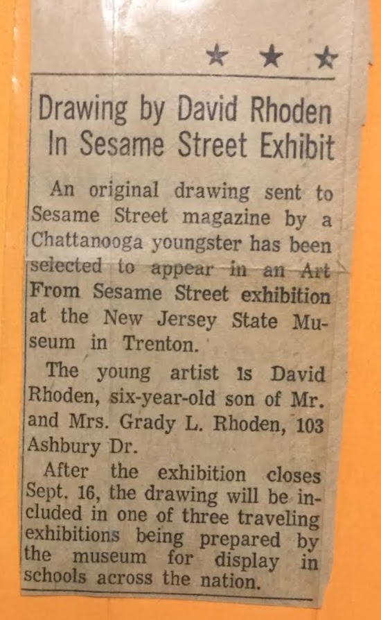 press clipping from chattanooga paper