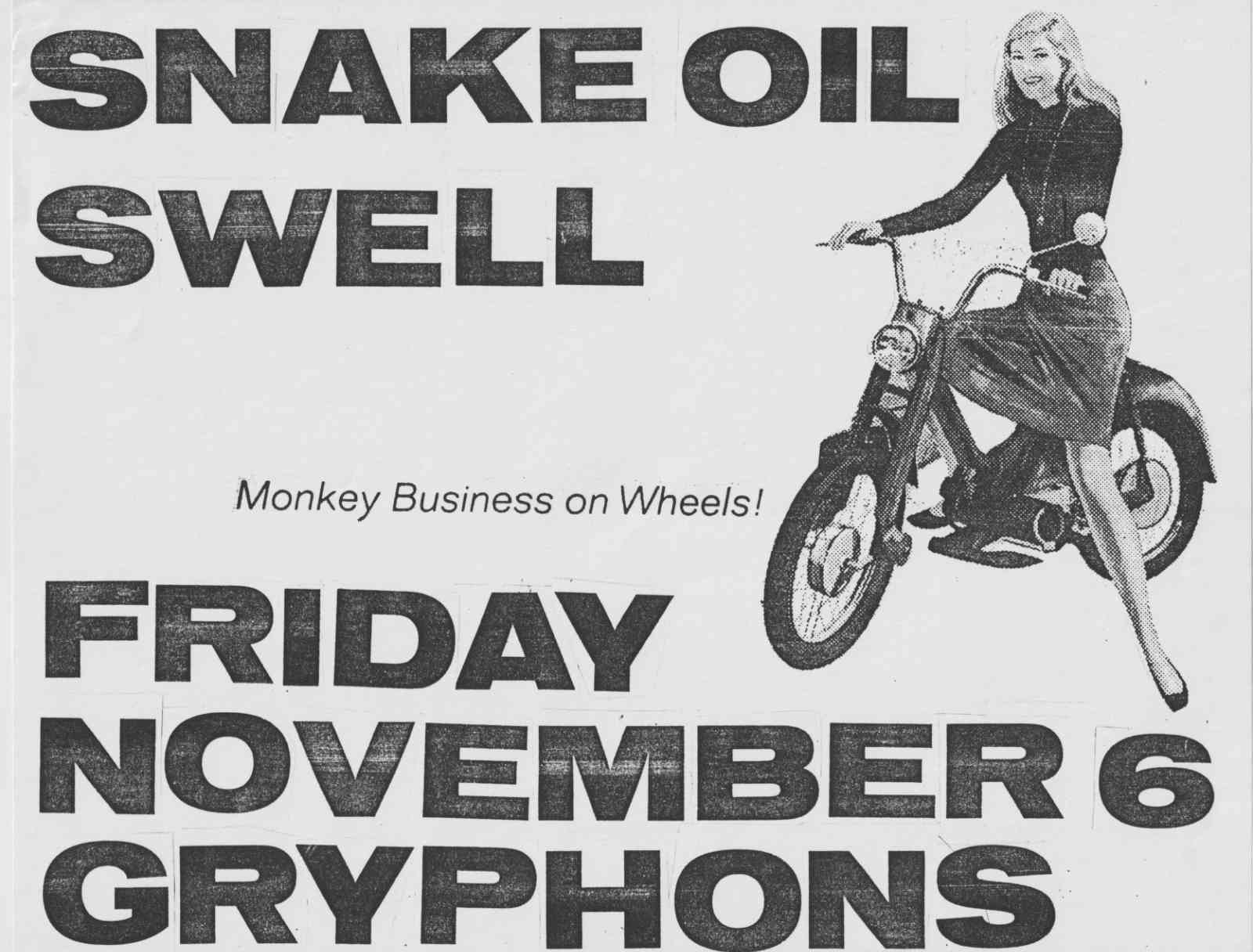 Snake Oil played Gryphons with Swell
