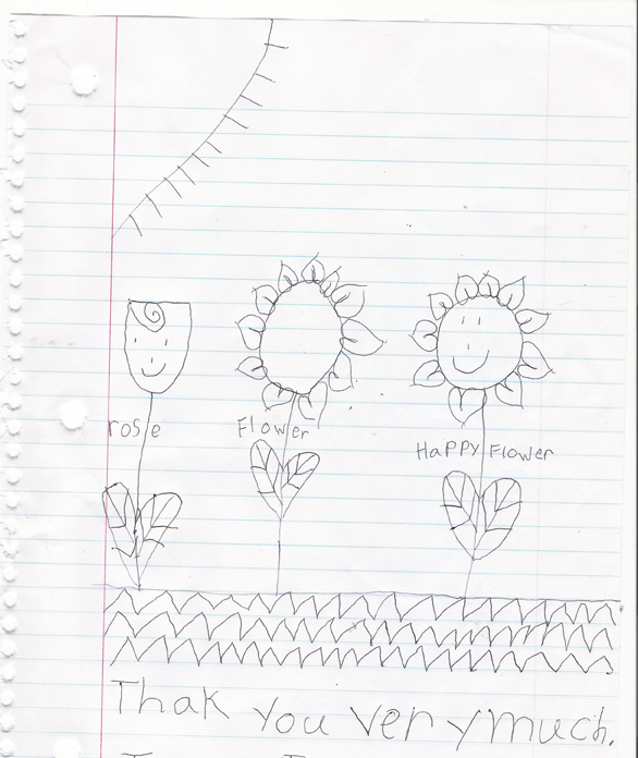 my neighbor Talisha drew me some flowers