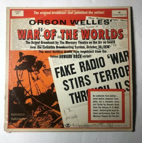 I checked this War Of The Worlds LP out of the Knox County Library