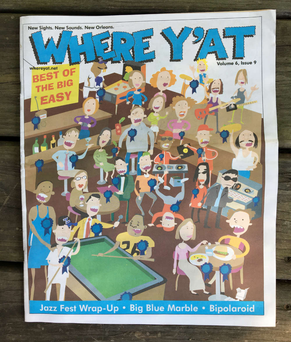 i did the cover illustration for Where Y'At magazine